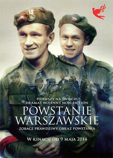 Przód ulotki filmu 'Powstanie Warszawskie'