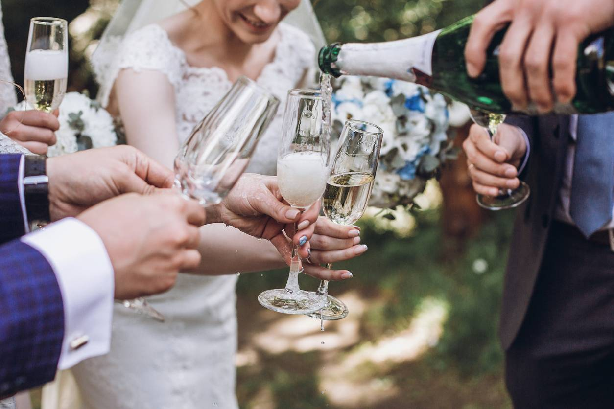 verre cristal champagne mariage