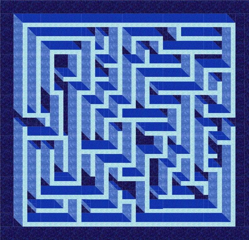 amazing labyrinth quilt pattern