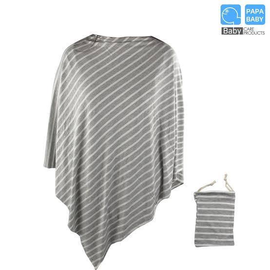 2. PAPA BABY หากคลุมให้นมแบบ Super soft พร้อมถุงผ้า