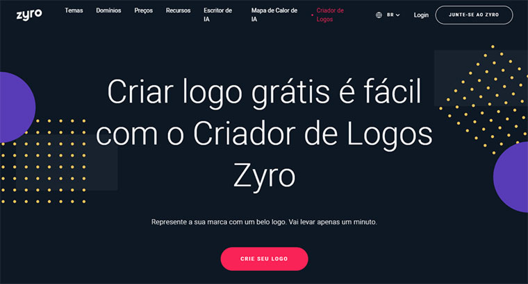 criador de logos do zyro