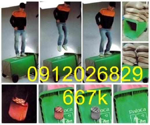 Bán thùng rác 240L composite giá rẻ, chất lượng