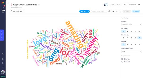 remote hackathon results: word cloud