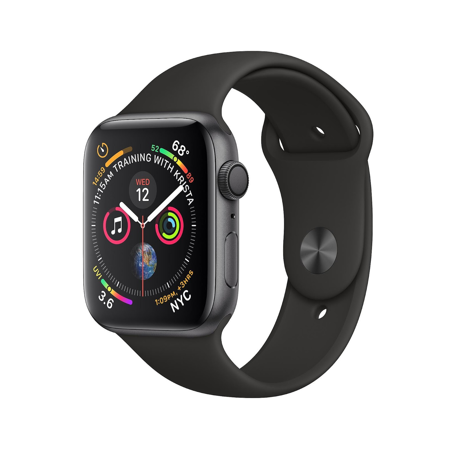 Apple watch series 4 GPS, 40mm Space Grey Aluminum