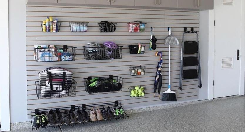 garage sports equipment organization