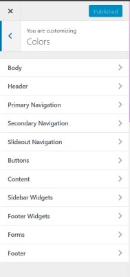 WordPress color customizer