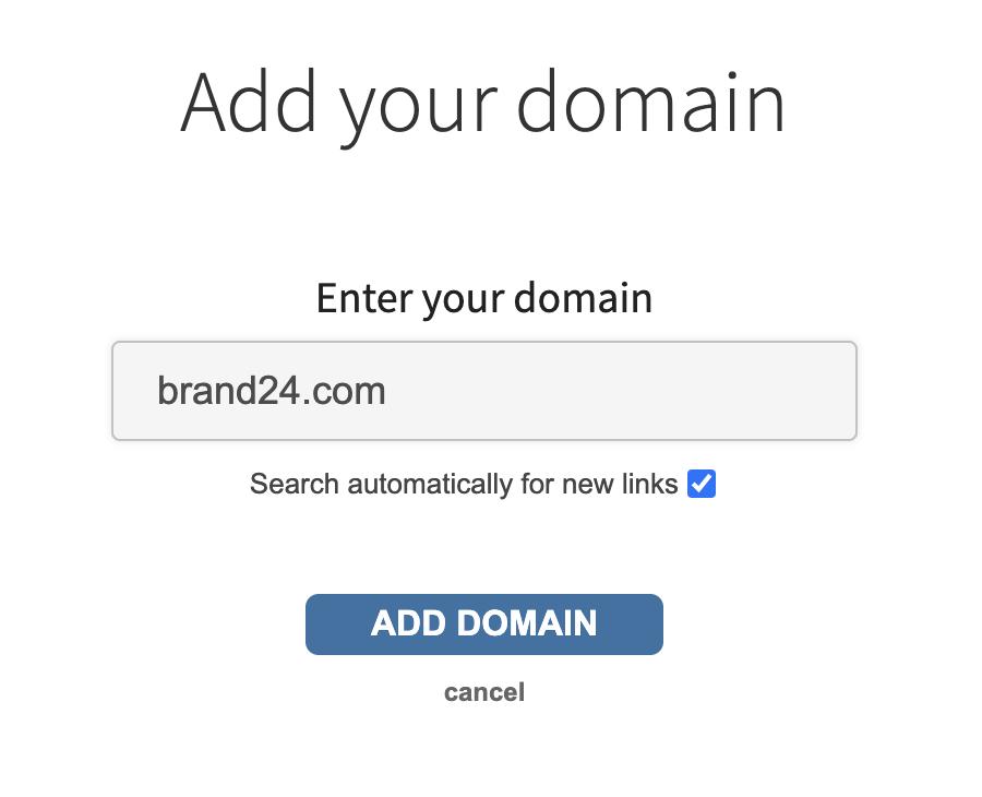 Backlink checker add domain