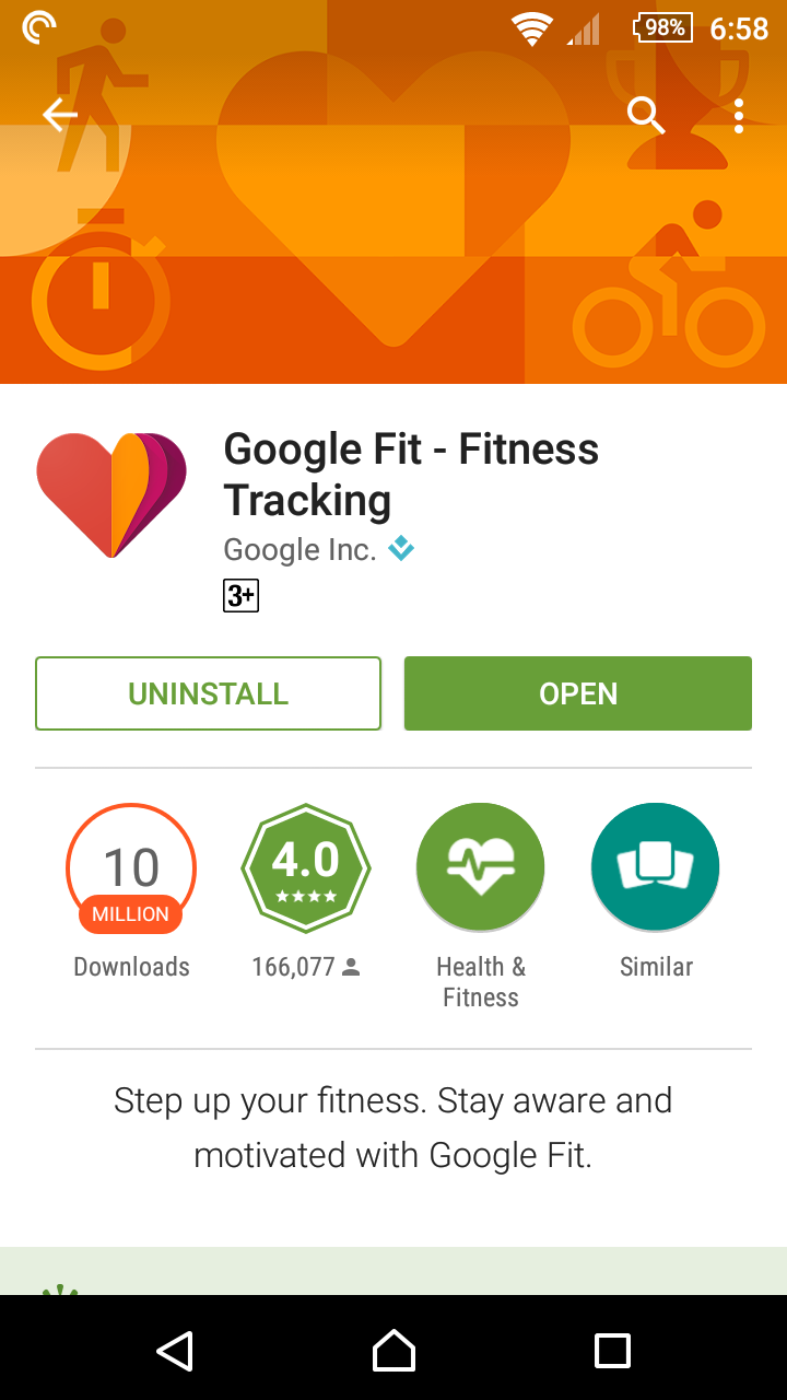 No me and no you: Google Fit app review: a free and