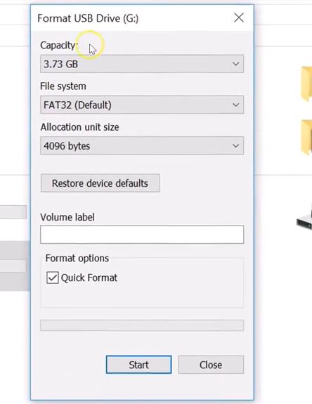set the formatting parameters