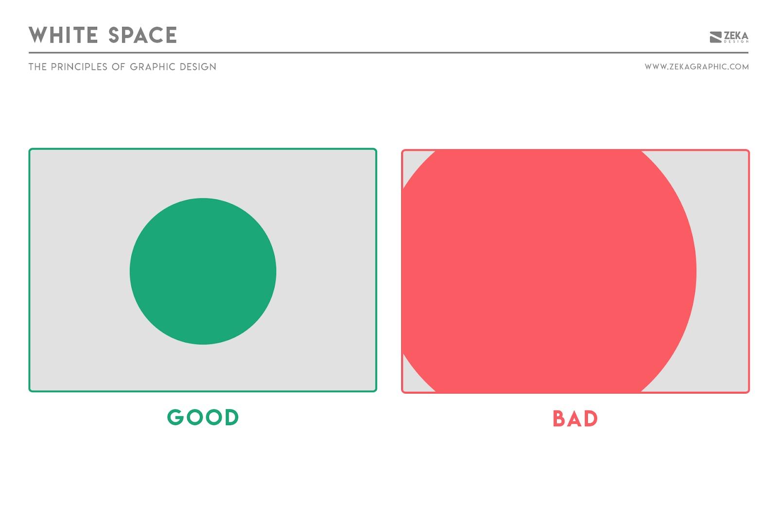 Nguyên tắc không gian trắng trong thiết kế đồ họa