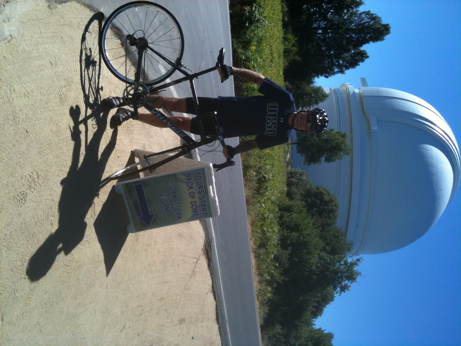 Cyclists at Palomar Observatory San Diego County