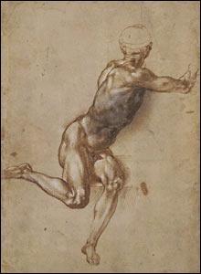 Un hombre desnudo sentado