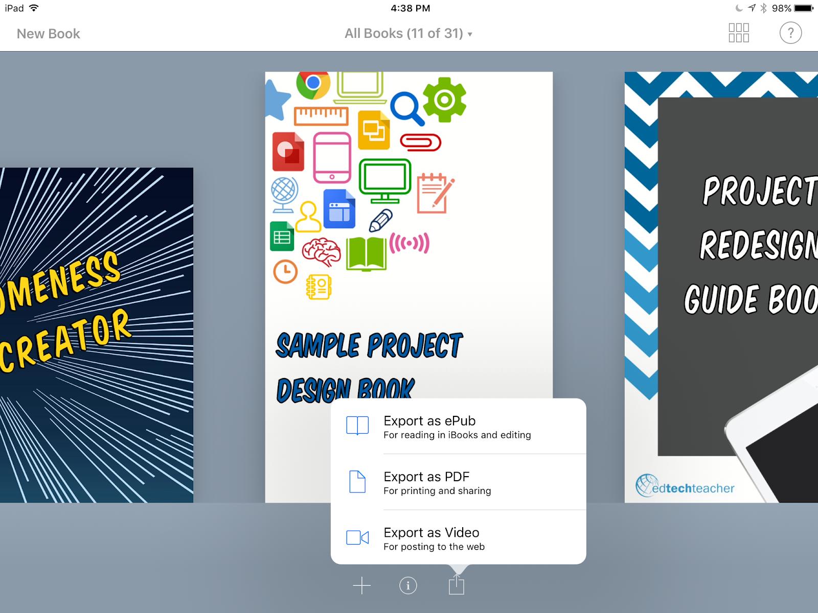Design Thinking & Book Creator - EdTechTeacher