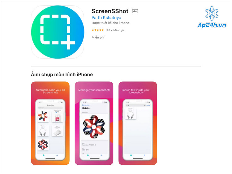 Công cụ quản lý ảnh chụp màn hình điện thoại
