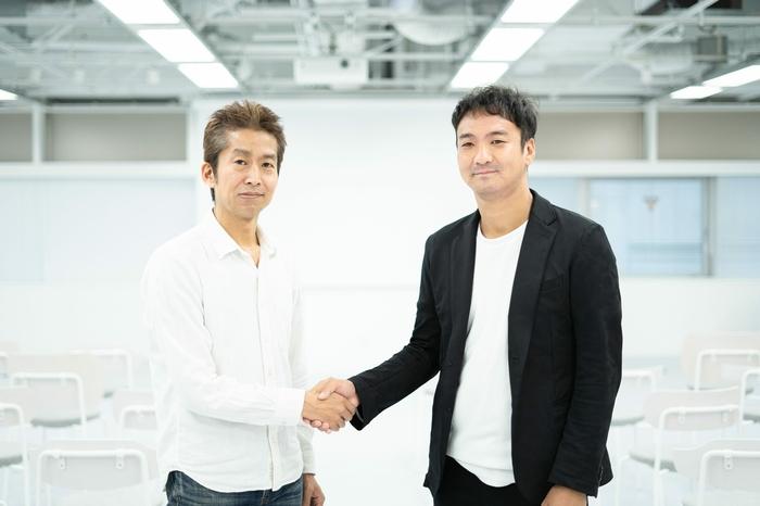左からピースオブケイク代表・加藤、UUUM代表・鎌田氏