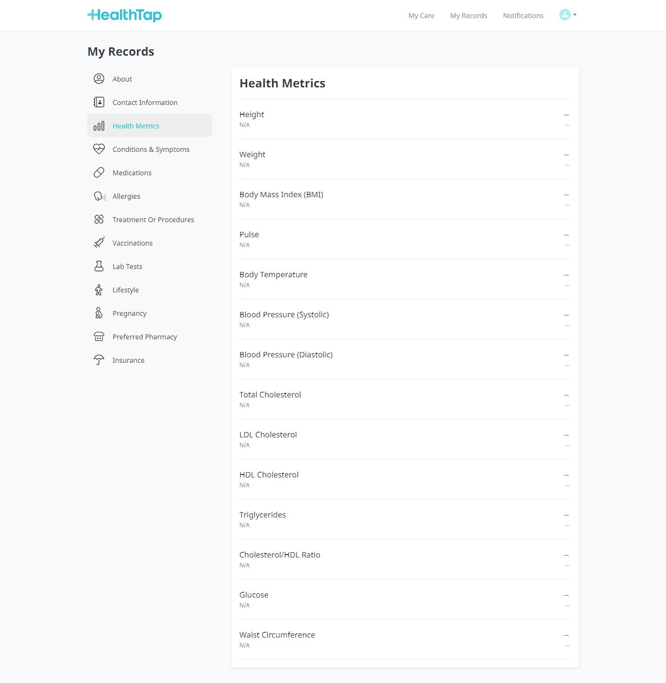 Core Features of a Telemedicine Platform - user profile