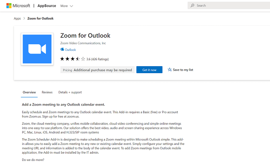 How do I create a Zoom meeting in Outlook
