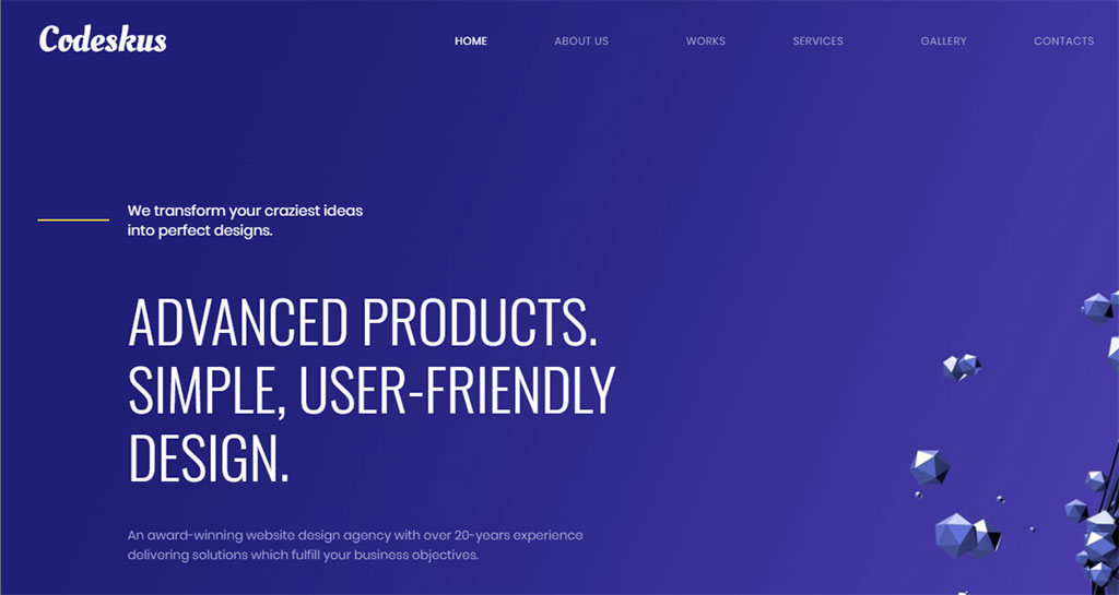 template premium codeskus para agência de webdesign