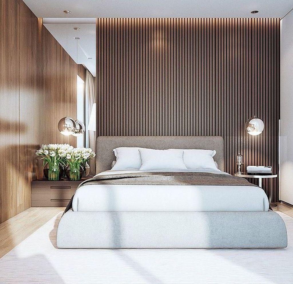 Phòng ngủ tone trắng nâu