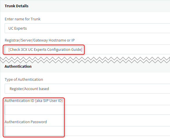 UC Experts SIP Trunk is 3CX Certified - How to configure 1