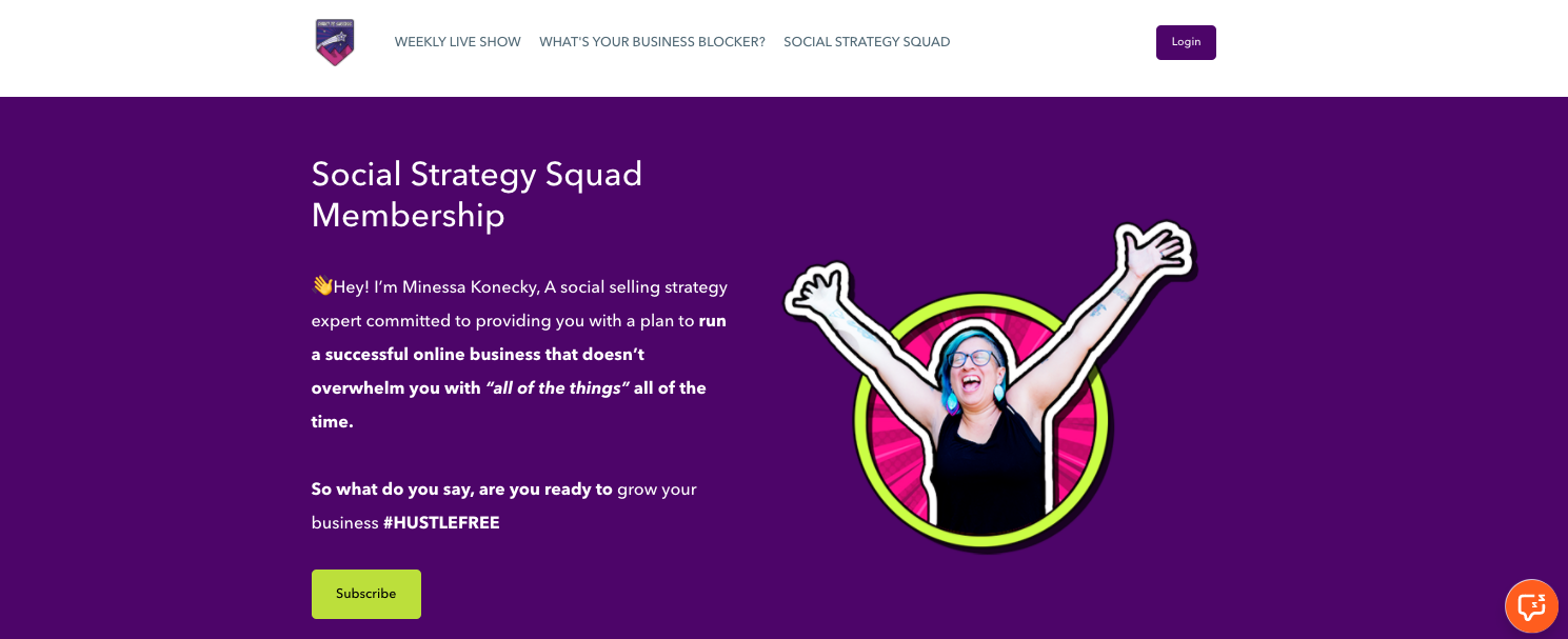 Social Strategy Squad membership description