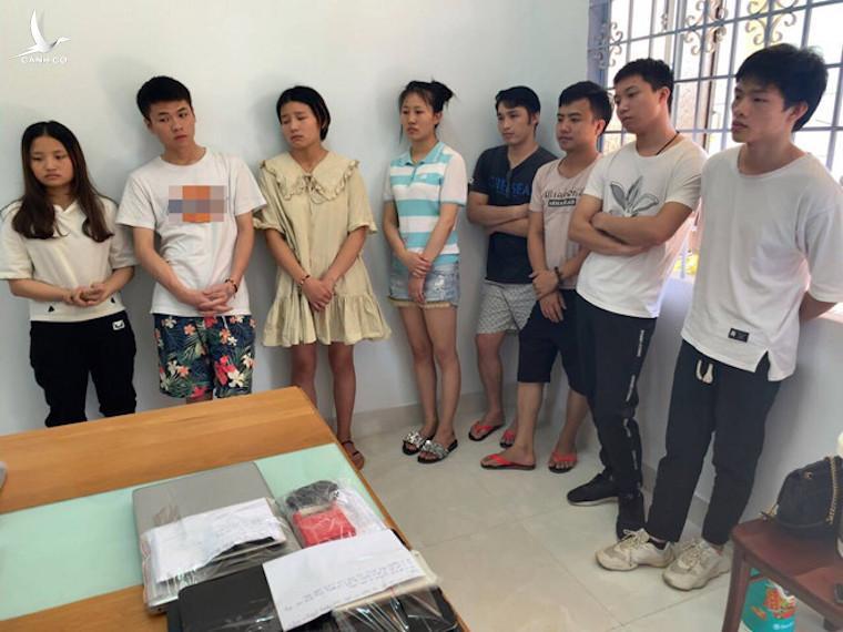 Các nghi phạm người Trung Quốc bị bắt giữ