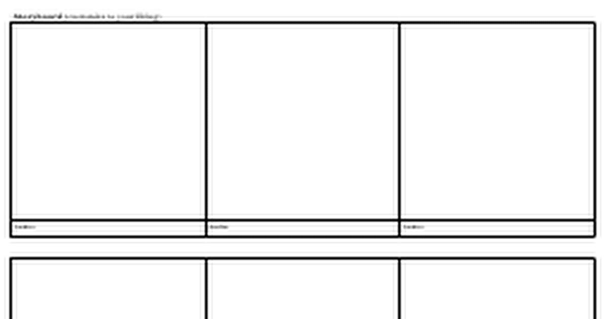 Storyboard Template Google Docs