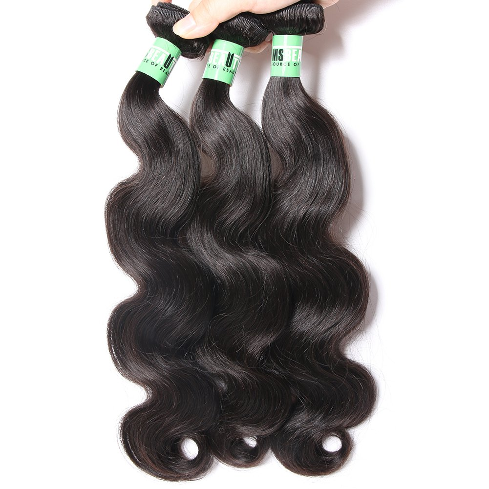 Wavy human hair bundles from Peru
