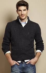 Image result for knitted sweaters for men over a collared shirt