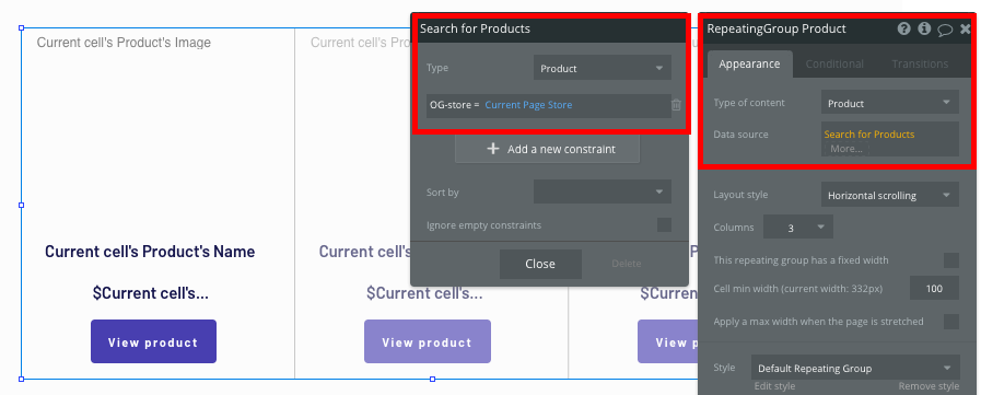 Displaying a list of products on a no-code Shopify store