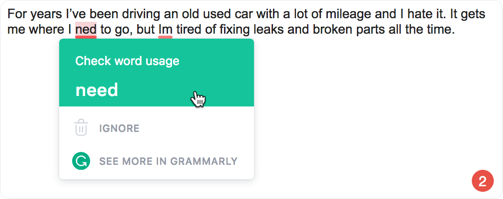 Detecting careless mistakes is Grammarly's forte.