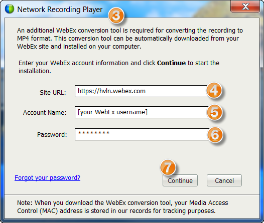 Downloading and Converting WebEx Recordings : HVLN Support Center