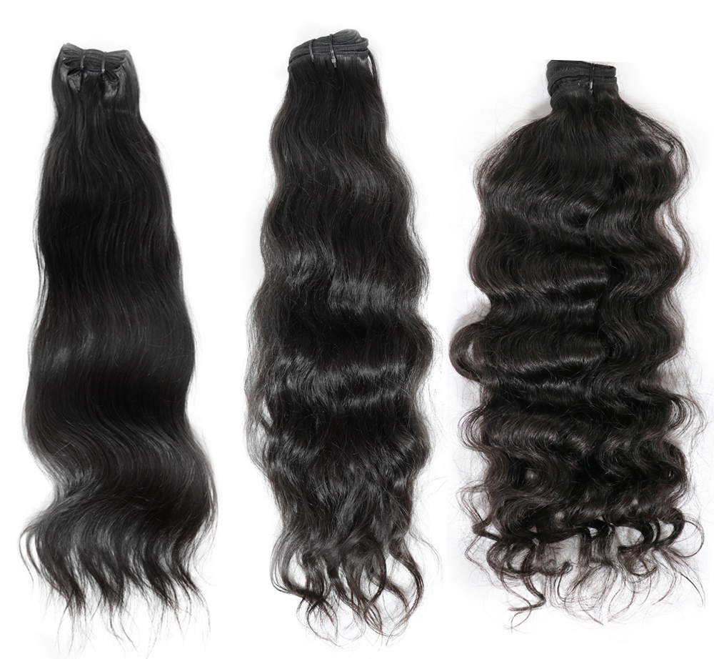 Virgin human hair from the temples of India
