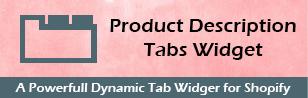 Product Description Tab Widget