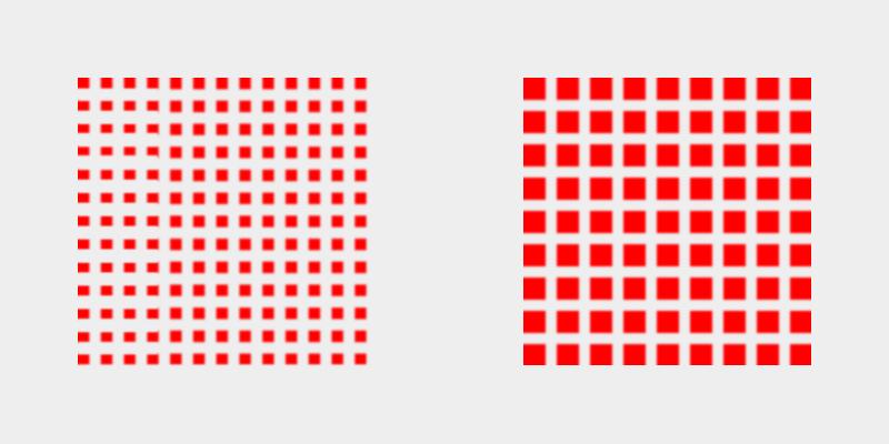 Peso visual por densidad