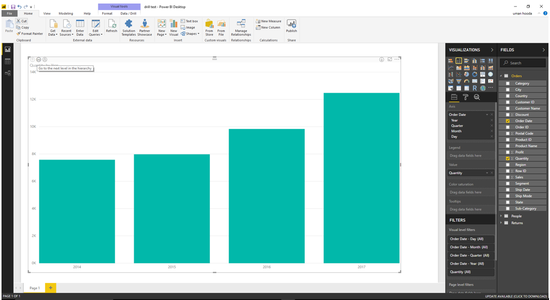 Drill In / Out on Your Data For Different Dates In Microsoft Power BI 41