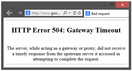 browsers 504 error