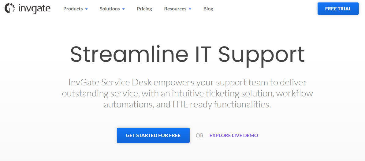InvGate Service Desk offers an intuitive IT ticketing system