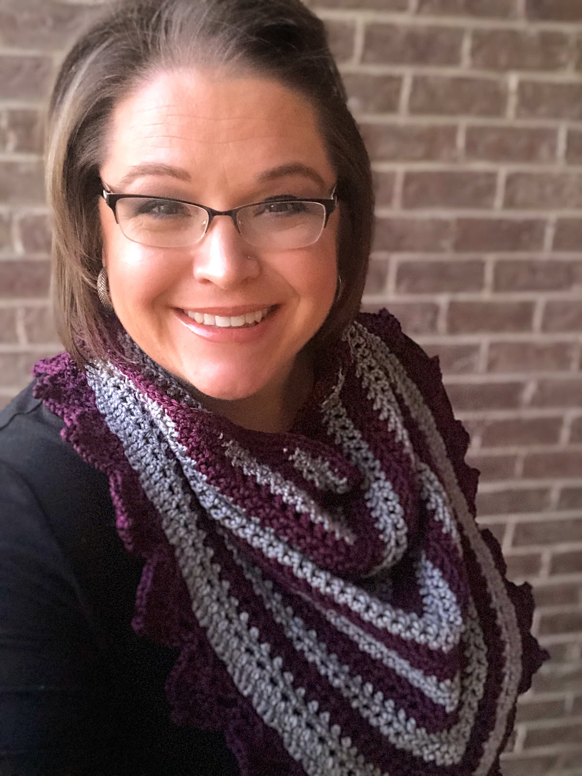 Crochet Shawl as bandana scarf