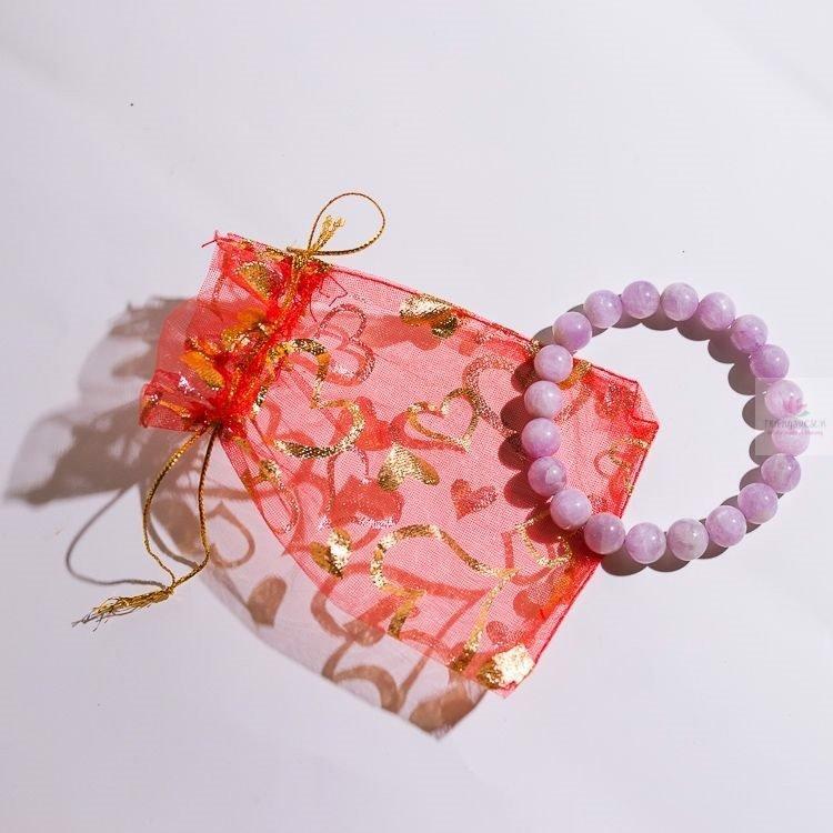 vòng đá kunzite hồng tím phong thủy
