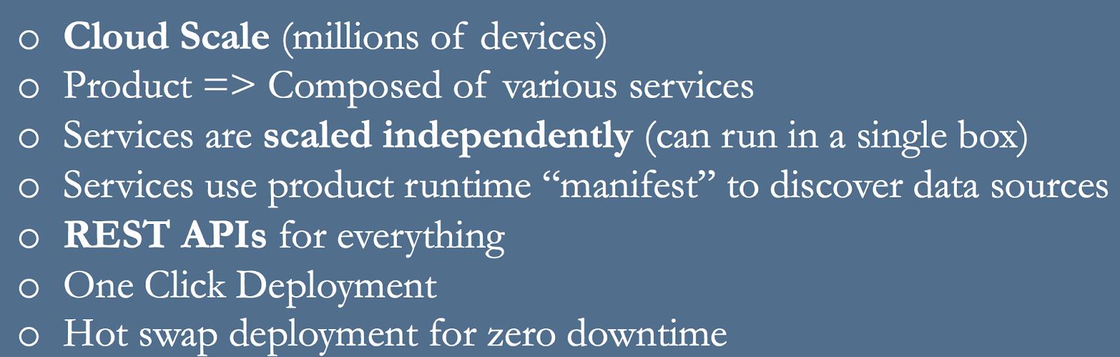 Key Tenets of Workspot Control Plane