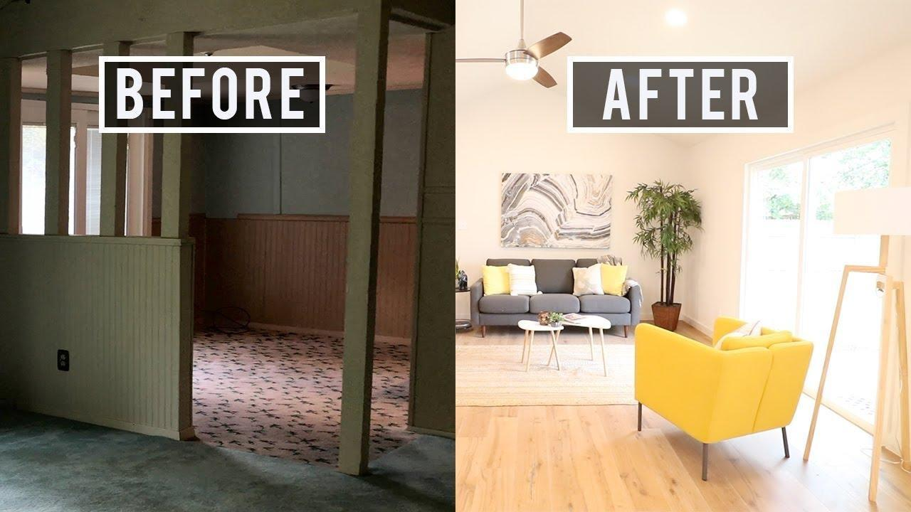 Before and After Home Renovation   Adding a Guest Bathroom - YouTube