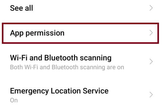 Check App permision