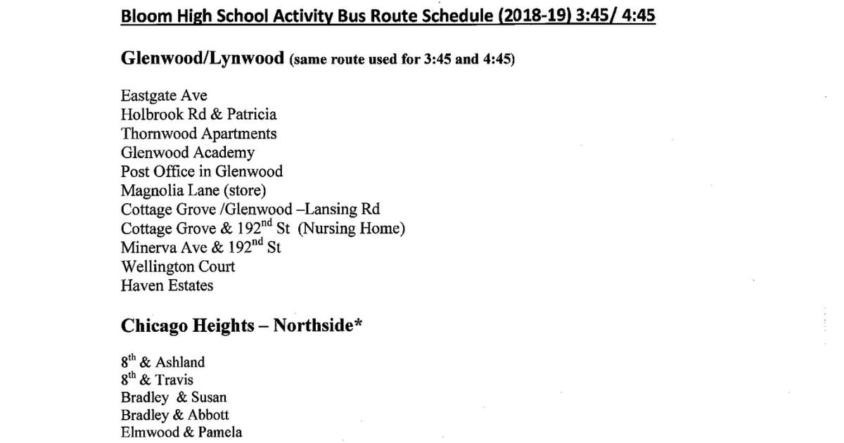 Bloom High School Activity Bus Routes pdf - Google Drive