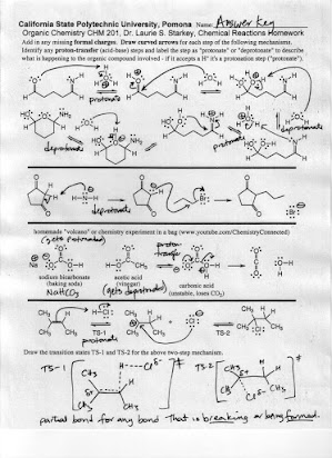 Organic Reactions Homework