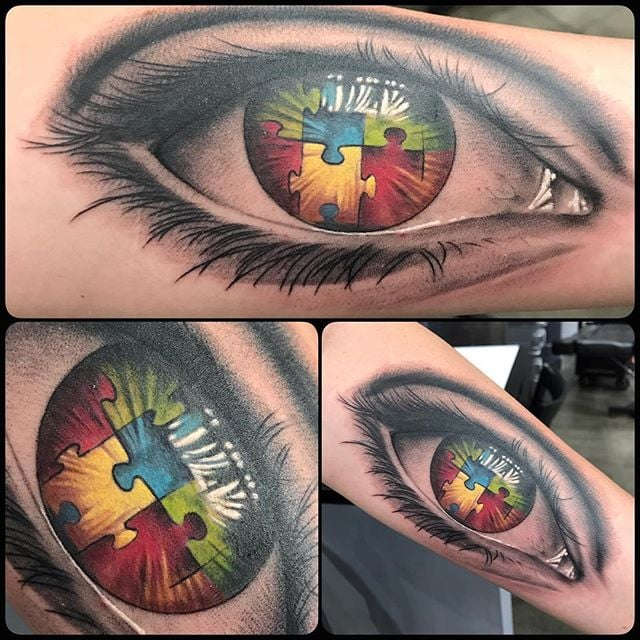 Autism tattoos (70 ideas)