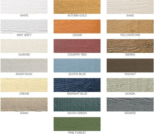 LP SmartSide Prefinished Colors