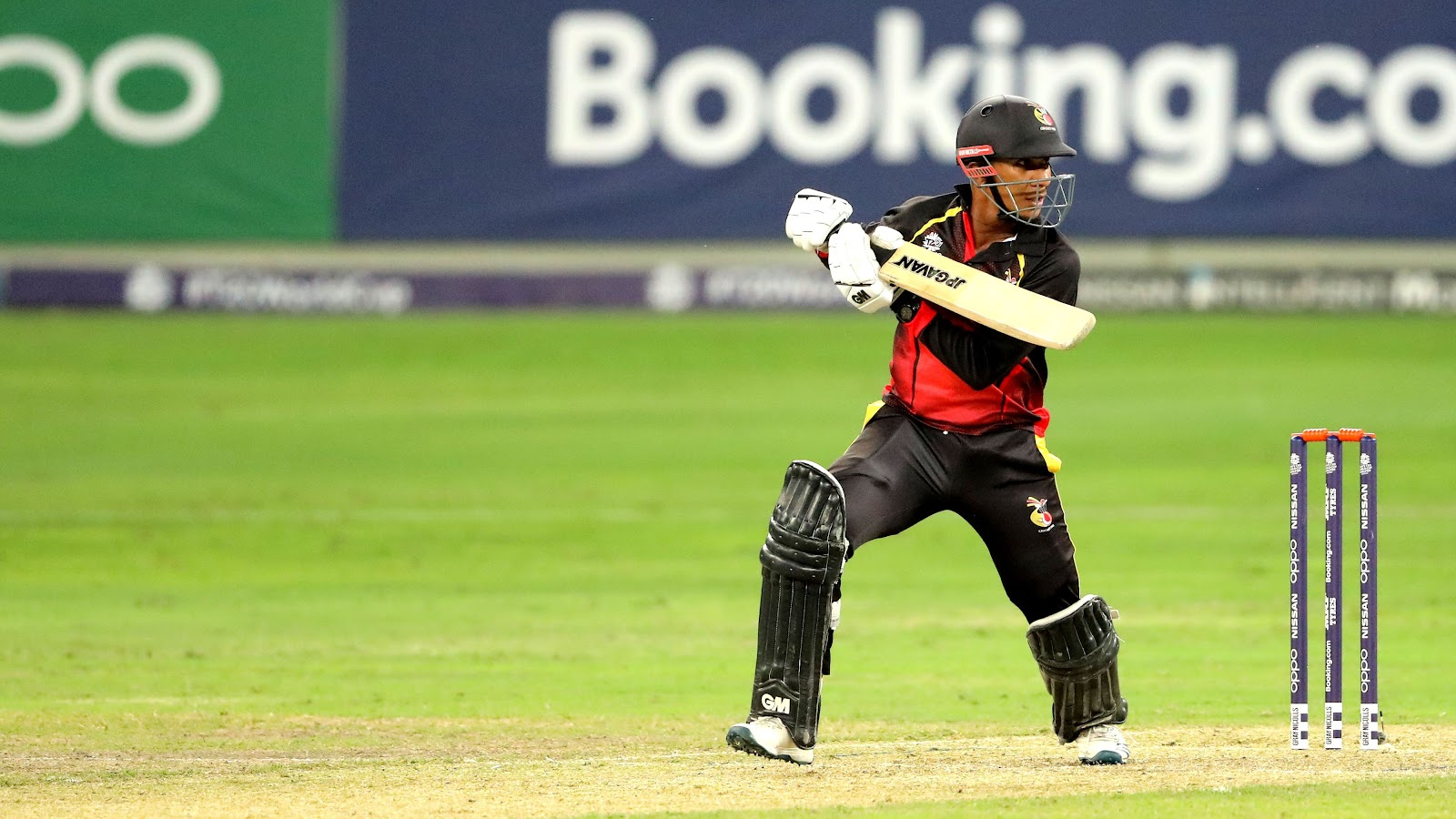 CJ Amini at the T20 World Cup Qualifier