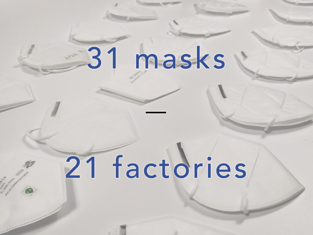 Tests on reliable N95 masks from 21 factories in China