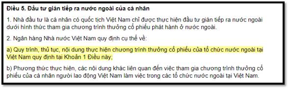 pháp luật về Công dân Việt Nam mua cổ phiếu nước ngoài